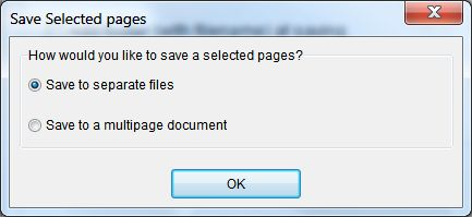 How to split a multipage TIFF file